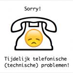 Telefoonstoring! UPDATE (Verholpen)