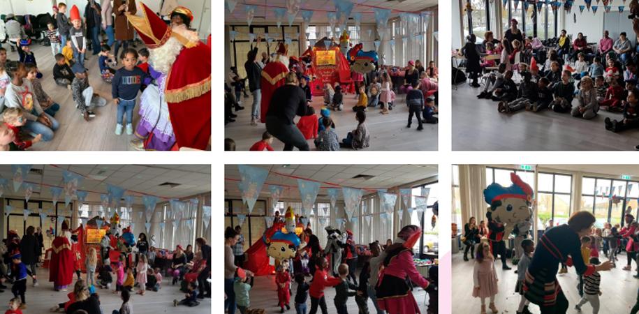 Sinterklaas op bezoek bij Madeliefje