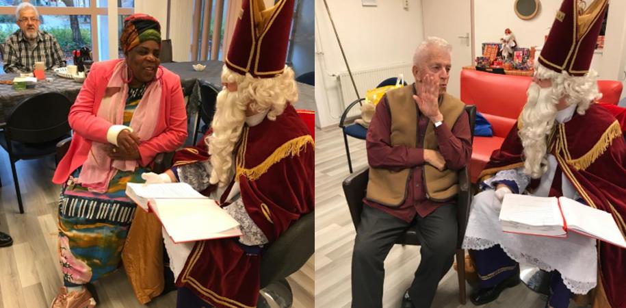 Sinterklaas op bezoek bij Dagbesteding van Madeliefje