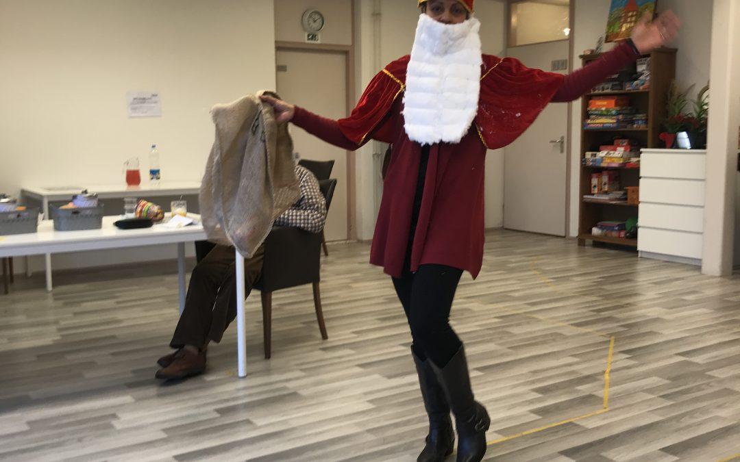 Sinterklaas op bezoek bij de Dagbesteding